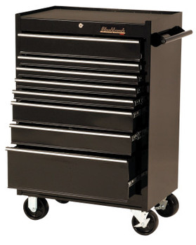 Stanley Products 8 Drawer Roller Cabinets, 27 in x 18 in x 41 1/2 in, 8 Drawers, Black (1 EA/EA)