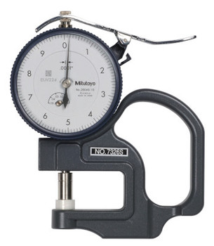 Mitutoyo Series 7 Ceramic Spindle Dial Thickness Gage, 0-100 Dial, 0.05 in Range (1 EA/ST)