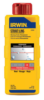 Stanley Products Permanent Staining Marking Chalks, 8 oz, Permanent Red (1 BTL/EA)