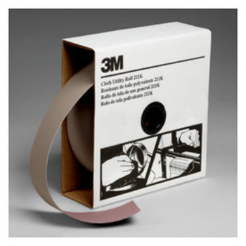 3M 211K Utility Cloth Rolls, 2 in, 50 yd, 240 Grit (1 EA/EA)