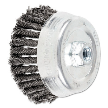 Advance Brush COMBITWIST Knot Wire Cup Brush, 5 in Dia., 5/8-11 Arbor, .023 Carbon Steel Wire (1 EA/BX)