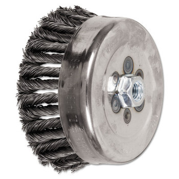 Advance Brush COMBITWIST Knot Wire Cup Brush, 6 in Dia., 5/8-11 Arbor, .023 Carbon Steel Wire (1 EA/EA)