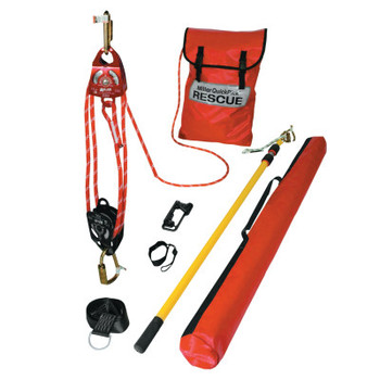 Honeywell QuickPick Rescue Kit Components, 12 ft Rescue Pole, Yellow/Black (1 EA/EA)