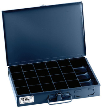 Klein Tools 21-Compartment Boxes, 13 5/16 in W x 9 3/4 in D x 2 in H, Gray (1 EA/EA)