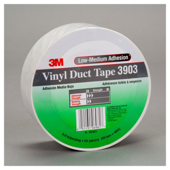 3M 3903 Vinyl Duct Tapes, 2 in x 50 yd x 6.5 mil, Green (1 RL/EA)
