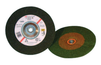 3M Green Corps Depressed Center Wheel, 7 in Dia, 1/4 in Thick, 7/8 Arbor, 24 Grit (20 CS/EA)
