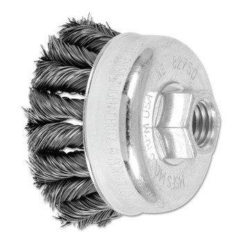 Advance Brush COMBITWIST Knot Wire Cup Brush, 2 3/4 in Dia., .014 in Carbon Steel Wire (5 BX/EA)