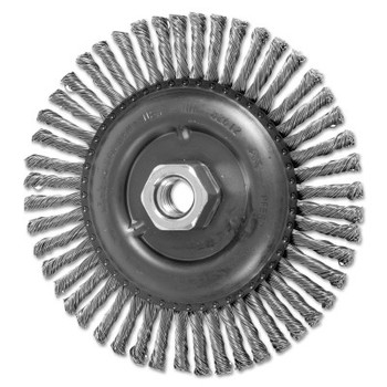 Advance Brush COMBITWIST Stringer Wheel, 6 in D x 3/16 in W, Stainless Steel Wire, 48 Knots (1 EA/EA)