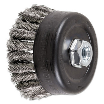 Advance Brush COMBITWIST Knot Wire Cup Brush, 4 in Dia., .014 in Stainless Steel Wire (1 EA/PK)