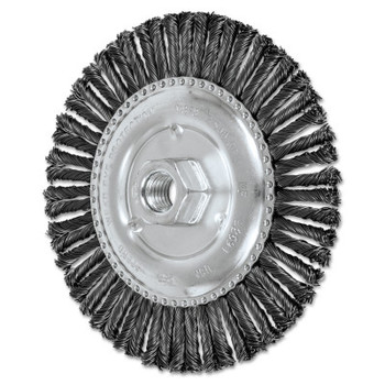 Advance Brush COMBITWIST Stringer Wheel, 6 in D x 3/16 in W, Carbon Steel Wire, 56 Knots (1 EA/CG)