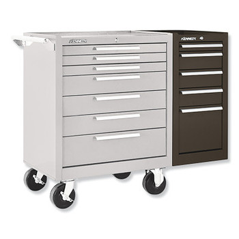 Kennedy Hang-On Cabinets, 13 5/8 in x 20 in x 29 in, 5 Drawers, Brown, w/Slides (1 EA/EA)