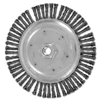 Advance Brush COMBITWIST Stringer Wheel, 6 7/8 in D x 3/16 in W, Carbon Steel Wire, 56 Knots (1 EA/EA)