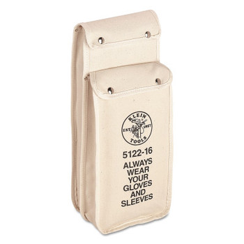Klein Tools Combination Glove and Sleeve Bags, 2 Compartments, Natural, No. 4 Canvas (1 EA/EA)