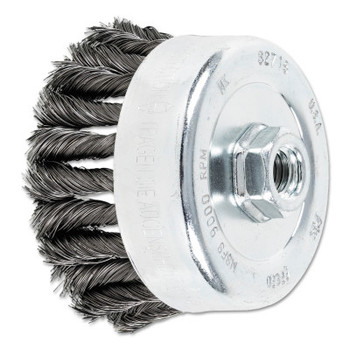 Advance Brush COMBITWIST Knot Wire Cup Brush, 4 in Dia., .014 in Carbon Steel Wire (1 EA/DRM)