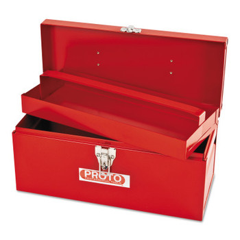 Stanley Products General Purpose Tool Boxes, Single Latch, 14 in x 6 in x 6 1/2 in, Steel, Red (1 EA/EA)