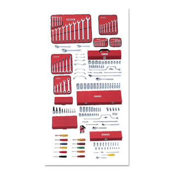 Stanley Products 194 Pc Master Socket & Wrench Sets, w/Top Chest J442719-8RD (1 ST/EA)