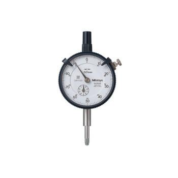 Mitutoyo Series 2 Dial Indicators, 0-100 Dial, 3/8 in Stem (1 EA/EA)