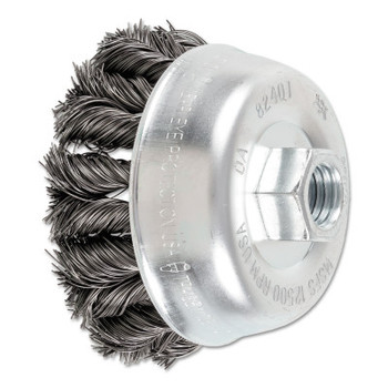 Advance Brush COMBITWIST Knot Wire Cup Brush, 3 1/2 in Dia., .014 in Carbon Steel Wire (1 EA/EA)
