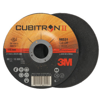3M Flap Wheel Abrasives, 60 Grit, 13,300 rpm (50 CT/CT)