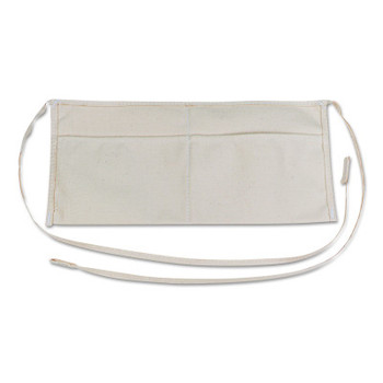 Stanley Products Waist Aprons, 2 Pocket, White (1 EA/CA)