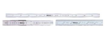 Mitutoyo Series 182 Steel Rulers, 6 in, 4R, Wide, Stainless Steel, Black, Rigid (1 EA/CA)