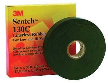 3M Scotch Linerless Splicing Tapes 130C, 30 ft x 1 in, Black (1 ROL/CA)