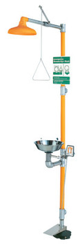 Guardian Eye Wash & Shower Stations, 11 1/2 in, SS & Safety Orange (1 EA/CA)