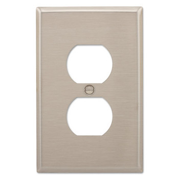 Cooper Wiring Devices WALLPLATE 1G DUPLEX RECEPTACLE MID SS (10 EA/CA)