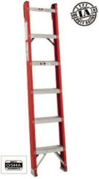 Louisville Ladder 7' FIBERGLASS CLASSIC SHELF LADDER TYPE IA (1 EA/CA)