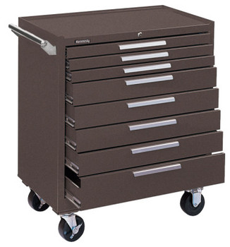 Kennedy Industrial Series Roller Cabinets, 34 in x 20 in x 40 in, 8 Drawers, Brown (1 EA/CA)