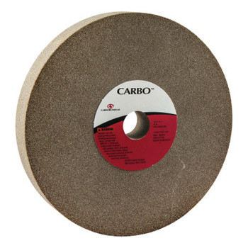 Carborundum Bench and Pedestal Wheels, Type 1, 8 in Dia., 1 in Thick, 80 Grit, M Grade (1 EA/EA)