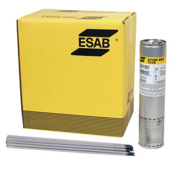 Esab Welding Stick Electrode - ATOM ARC 7018 Welding Wires, 1/8 Dia., 14 Long, 10 lb Can (10 LB/EA)