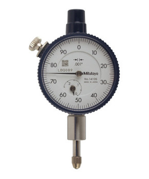 Mitutoyo Series 1 Compact Dial Indicators, 0-100 Dial, 0.25 in Range (1 EA/EA)