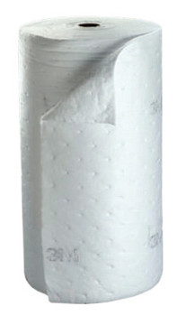 3M High-Capacity Petroleum Sorbent Rolls, Absorbs 73 gal, 144 ft (1 RL/EA)