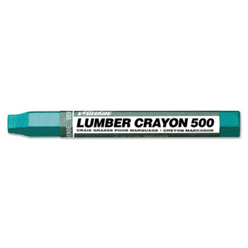 Markal Lumber Crayons 500, 1/2 in dia, 4-5/8 in, Green (12 DZ/EA)