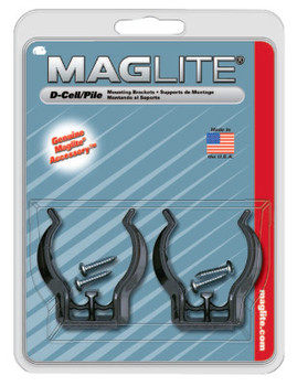 MAG-Lite Mounting Brackets, For Use With D-Cell Flashlights (2 CD/KIT)