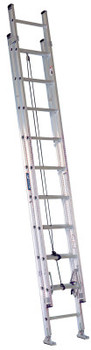 Louisville Ladder AE2800 Series Aluminum Stacked Extension Ladders, 40 in, Class IA, 300 lb (1 EA/BO)