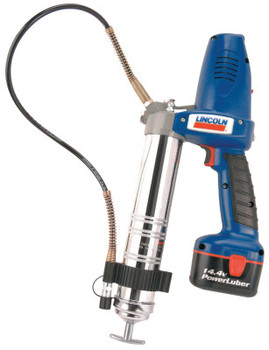 "Lincoln Industrial PowerLuber Heavy-Duty Battery Grease Guns, 14.5 oz, 7,500 psi, 1/8"" NPT(F) (1 EA/EA)"