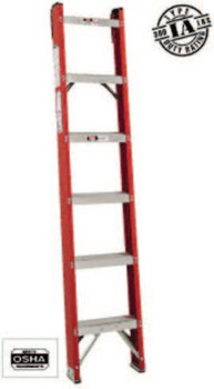 Louisville Ladder 12' FIBERGLASS CLASSIC SHELF LADDER (1 EA/CT)