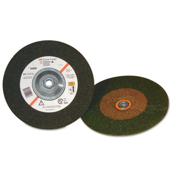 3M Green Corps Depressed Center Wheel, 4 in Dia, 1/4 in Thick, 24 Grit (60 CA/BOX)