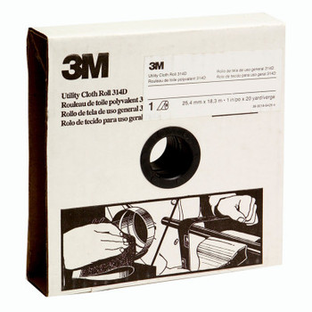 3M Utility Cloth Rolls 314D,  1 in x 50 yd, P120 Grit (1 RL/BAG)