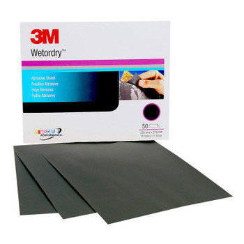 3M Wetordry Paper Sheets, Aluminum Oxide, P800 Grit, 11 in Long (1 EA/BAG)