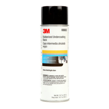 3M Rubberized Undercoating, Black, 19.7 oz Aerosol Can (6 CA/BOX)
