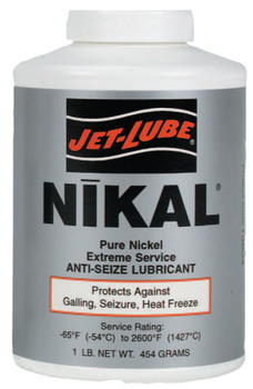 Jet-Lube Nikal High Temperature Anti-Seize & Gasket Compounds, 1/2 lb Can (1 CN/BOX)