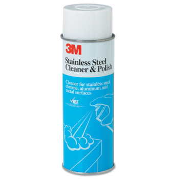 3M Stainless Steel Cleaner and Polish, 21 oz Aerosol Can (12 CA/BOX)