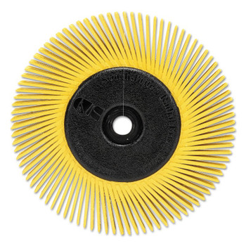 3M Scotch-Brite Radial Bristle Brush, 6 in D x 1/2 in W, 10,000 rpm, Grit 80 (1 EA/BOX)