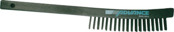 "Advance Brush Curved Handle Scratch Brushes, 13 3/4"", 3X19 Rows, Carbon Steel Wire, Plastic (1 EA/EA)"