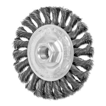 Advance Brush Full Cable Twist Knot Wheel, 4 in D x 3/8 in W, .014 in Steel Wire, 20,000 rpm (1 EA/BOX)