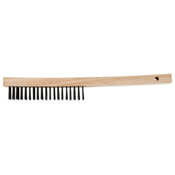 Advance Brush Economy Line Scratch Brushes, 13 3/4 in, 3 X 19, Carbon Steel, Curved (1 EA/EA)
