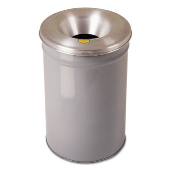 Justrite Cease-Fire Waste Receptacles, 12 gal, Head: Aluminum, Gray (1 EA/BOX)